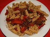 Fusilli w.peppers and onions