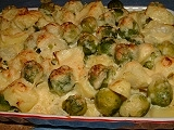Brussel sprouts/potato bake
